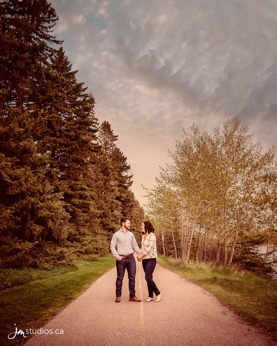 The Higgins's Engagement Session at Calgary's Baker Park