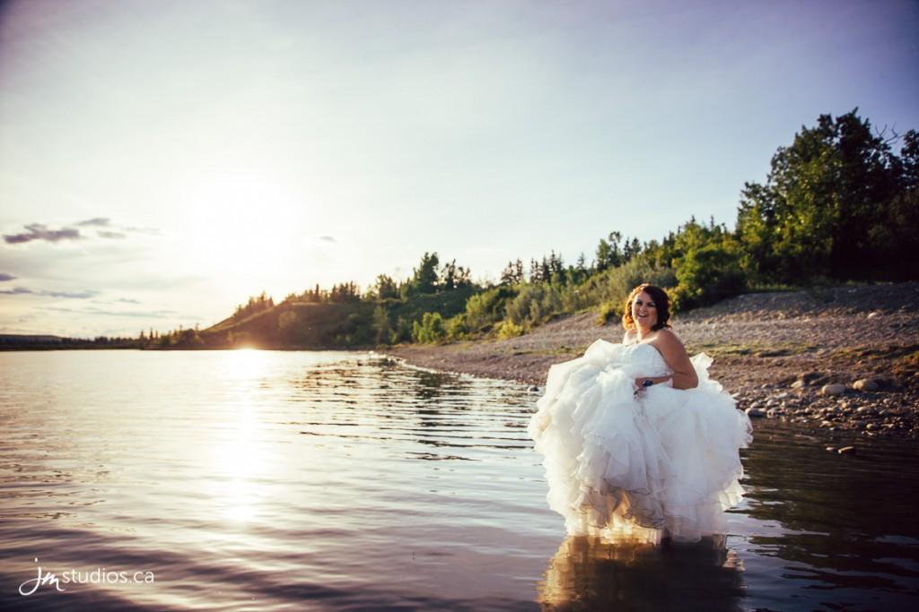 Carmen's Trash the Dress Session along the Elbow River in North Glenmore Park. #TrashtheDress Photos by Calgary Wedding Photographers JM Photography © 2016 http://www.JMweddings.ca #JMweddings #JMstudios #JMphotography #TrashtheDressPhotography #TrashtheDressPhotos