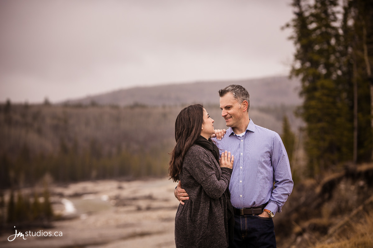 Diana and Troy's #Engagement Session at Elbow Falls. #EngagementPhotos by Calgary Engagement Photographers JM Photography © 2017 http://www.JMstudios.ca #JMweddings #JMstudios #JMphotography #EngagementPhotography #EngagementPhotos #EventCoreYYC