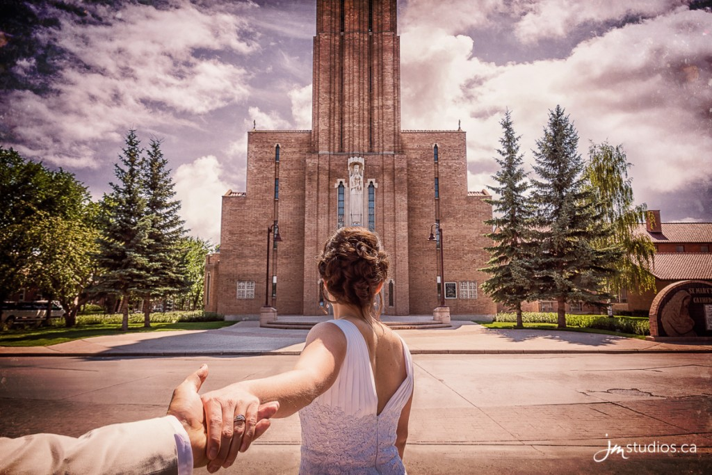 Laura and Patrick's #Wedding formals in front of St. Mary's Cathedral. Images by Calgary Wedding Photographers JM Photography © 2017 http://www.JMstudios.ca #JMweddings #JMstudios #JMevents #JMphotography #WeddingPhotography #WeddingPhotographers #EventCoreYYC