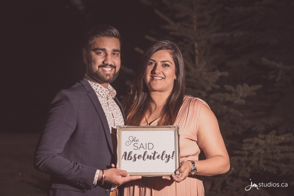 Tarenjeet and Alambir's #Engagement created with #AbsolutelyProposals at River Cafe. #EngagementPhotos by Calgary Engagement Photographers JM Photography © 2017 http://www.JMstudios.ca #AbsolutelyProposals #SheSaidAbsolutely #RiverCafe #PrincesIslandPark #Engagement #SheSaidYes